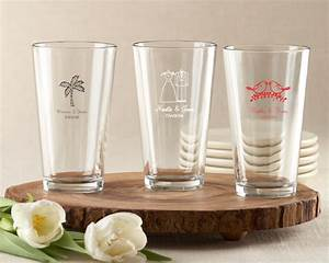 personalized wedding 16 oz pint glass my wedding favors With beer glass wedding favors