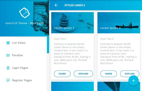 ionic template get sessionstorage data ionic 3 material design ui template blue light apk