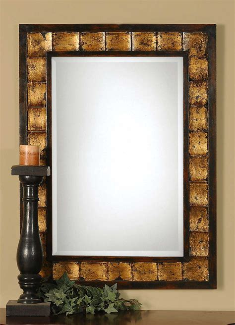 Uttermost Mirror Sale by Uttermost Justus 28 X 38 Decorative Gold Wall Mirror