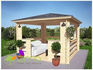 Tonnelle Alu 3x3 : tonnelle en bois 3x3 maison et pergola ~ Teatrodelosmanantiales.com Idées de Décoration