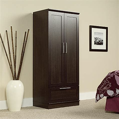 sauder homeplus storage cabinet dakota oak sauder homeplus dakota oak wardrobe storage cabinet at
