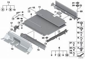 Bmw X5 Floor Carpet  Luggage Compartment  Schwarz  Trim