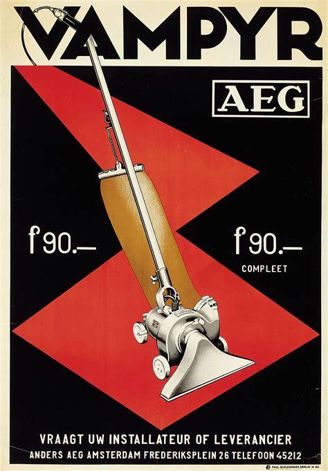 design  fine aeg poster  vampyr vacuum cleaner