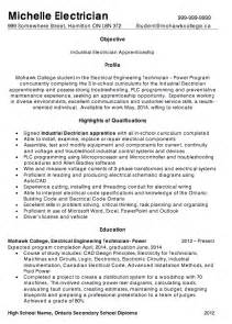 resumes for industrial electricians sle resume for industrial electrician sle resume for industrial electrician 9 resume