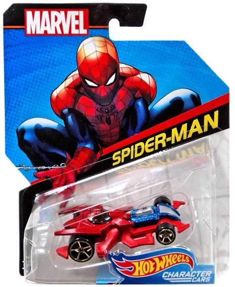 Hot Wheels Marvel Character Cars Spiderman Diecast Car