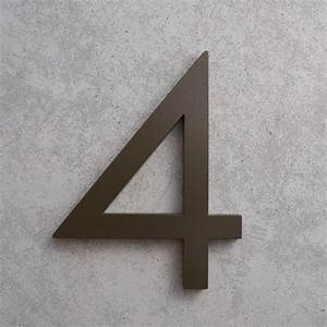 modern house numbers and letters With bronze letters and numbers