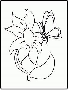 Coloring Pages Of Flowers And Butterflies - Coloring Home