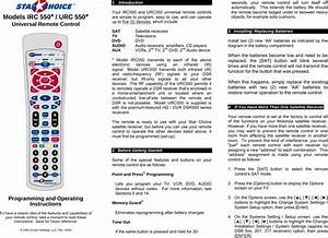 Contec Urc550 Universal Remote Control User Manual Users