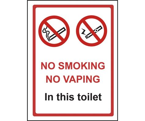in this toilet no smoking or vaping in this toilet sign