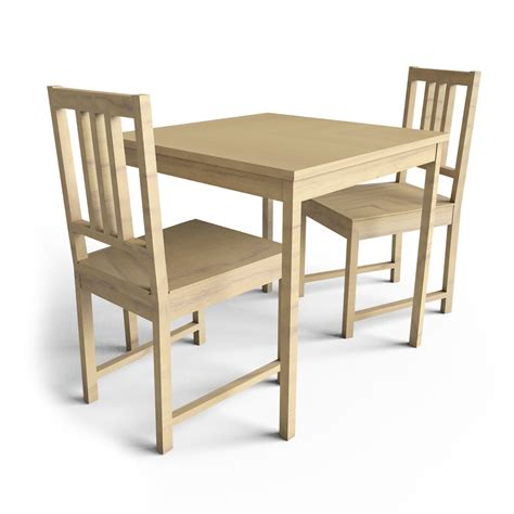cad and bim object ingo table and stefan chairs ikea