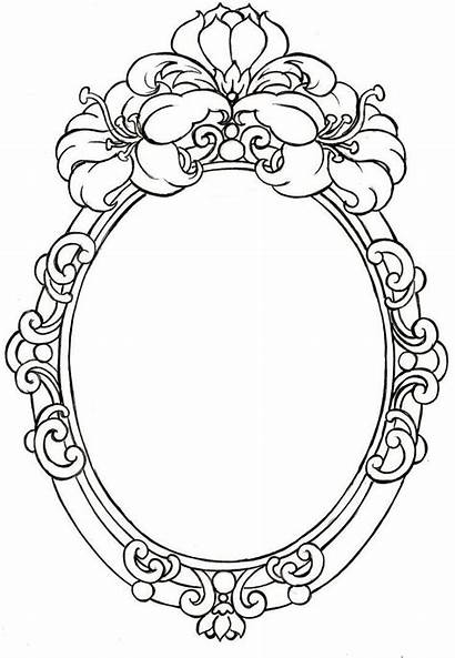 Frames Oval Tattoo Blanc Noir Drawing Tattoos