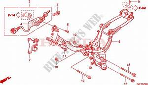 Frame For Honda Innova 125 2010   Honda Motorcycles  U0026 Atvs Genuine Spare Parts Catalog