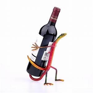 Tooarts Gecko Wine Holder Rack Iron Craft Home Decoration ...