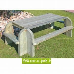 Table Picnic Bois Pas Cher : table pique nique bois tables jardin pique nique picnic pas cher ~ Melissatoandfro.com Idées de Décoration