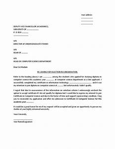 Sample Letter For Admission Reconsideration