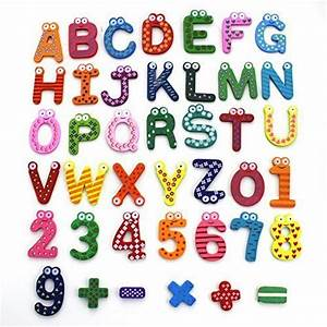 zicome wooden magnetic letters and numbers set alphabet With wooden magnetic letters and numbers