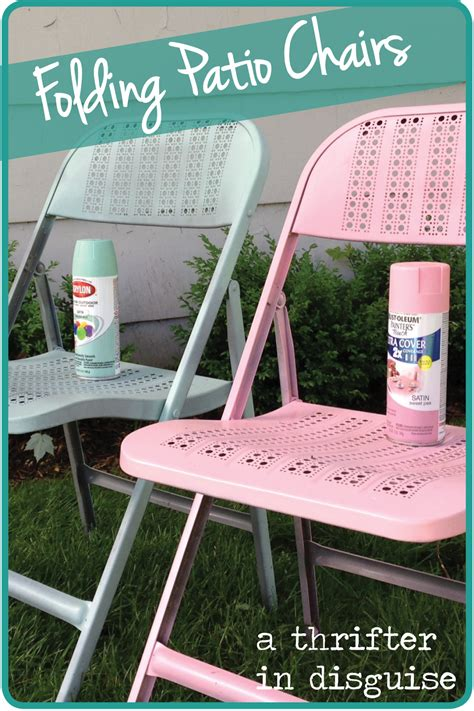 a thrifter in disguise diy metal folding patio chairs