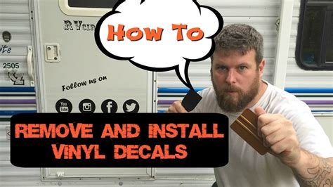 how to remove vinyl rv graphics and ghost letters how to remove rv vinyl graphics and install custom decals 59607