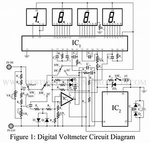 digital voltmeter dvm circuit using icl 7107 best With dc voltmeters