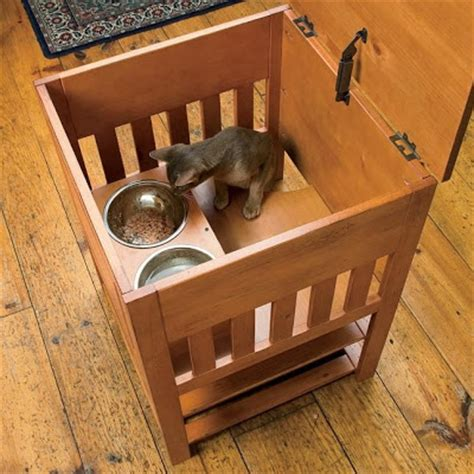elevated cat food table catnip alley studio blog dog proof cat feeding station