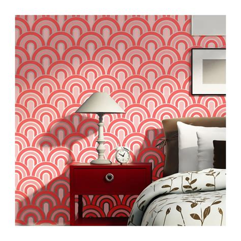 wall stencils scallop pattern allover stencil  painting