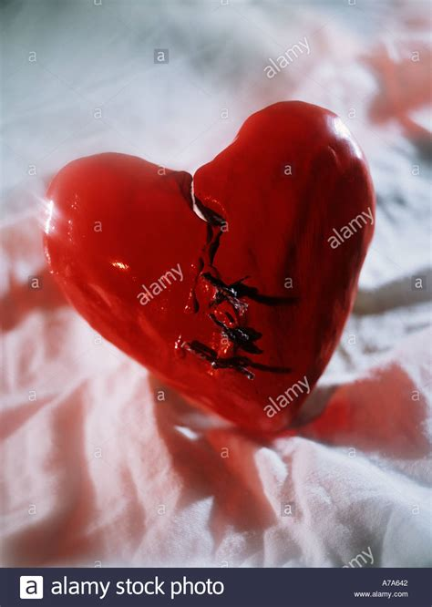 broken heart patched provisionally symbol  heart pain