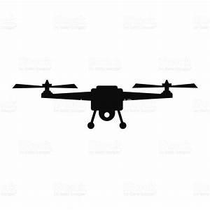 Drone Silhouette Vector Illustration Vector stock vector ...