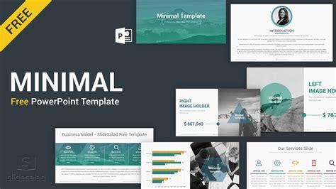 minimal   powerpoint template slidesalad