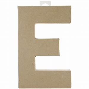 paper mache letter letter e With paper mache cardboard letters