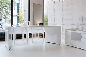 Tischplatte Weiß Hochglanz : schreibtisch commentor exklusiver schreibtisch von rechteck ~ Frokenaadalensverden.com Haus und Dekorationen