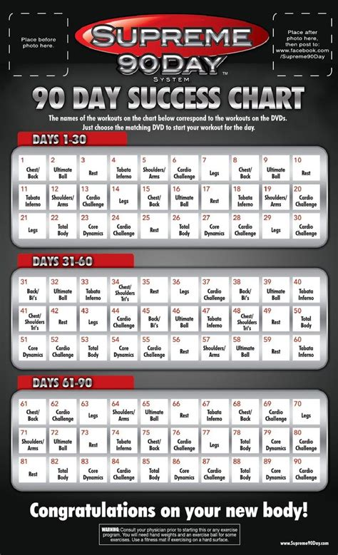 supreme  day workout schedule  time clean eating