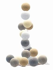 Cotton Balls Lichterkette : good moods led lichterkette cotton balls creme wei grau beige bei fantasyroom online kaufen ~ Frokenaadalensverden.com Haus und Dekorationen