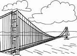 Gate Golden Coloring Monuments Dessin Coloriage Pont Colorier Coloriages Bridge Kedudukan Menentukan Garis Dua Cara Drawings Wonders Designlooter Ohbq Liberte sketch template