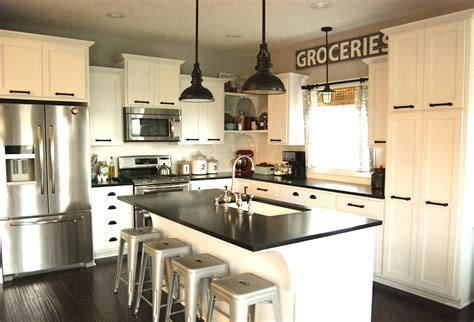 rustic contemporary kitchen mix it up rustic modern kitchen design hayneedle 2042