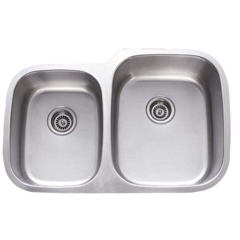 31 inch stainless steel undermount 40 60 double bowl