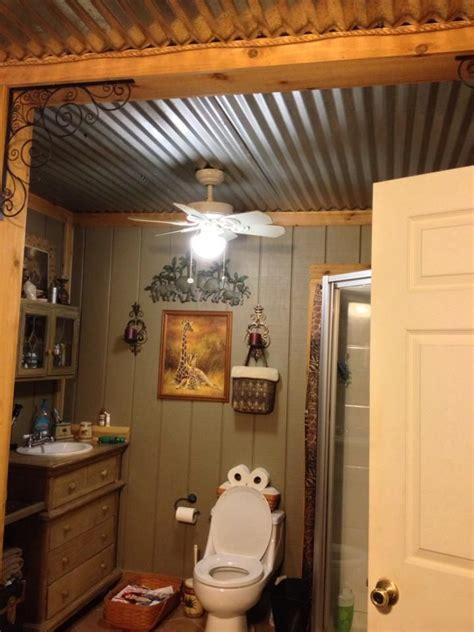 barn tin bathroom ceiling   home  ceiling