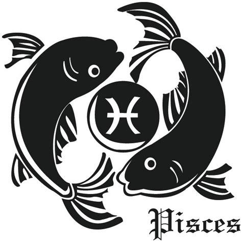 sternzeichen fische wandtattoo