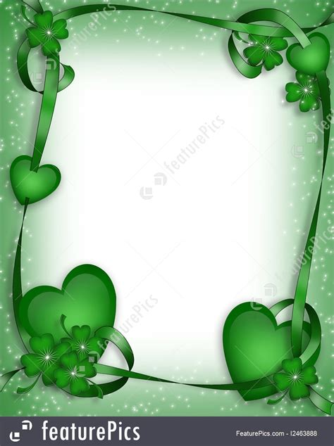 st patricks day border background stock illustration