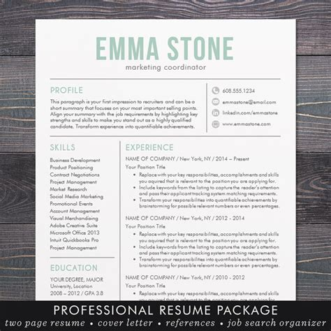 Sle Modern Resume Templates by Sale Creative Resume Template Modern Design Mac Or Pc Word