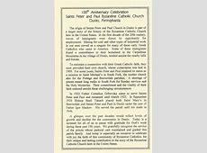SS Peter & Paul Byzantine Catholic Church Dunlo History