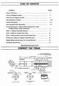 Hybco Model 1100 Tap Grinder Instructions  U0026 Parts Manual