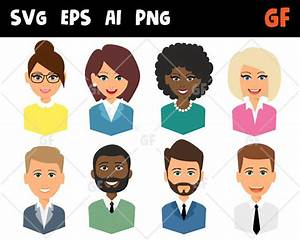 Business persons vector clipart, svg characters, vector