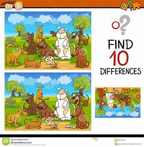 Find Differences Educational Task Stock Vector