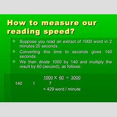 Speed Reading Ppt