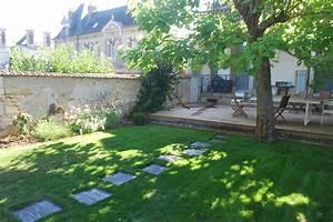 nos jardins terrasses et bassins With idee de jardin paysage