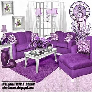 Luxury purple furniture sets sofas chairs for living for Purple living room chair