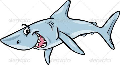 shark animal cartoon illustration dorsal fin animal