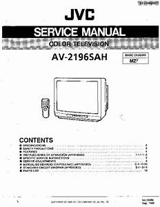 Schematic Diagram Manual Jvc Av N21f46 Color Tv