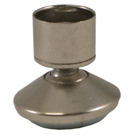 metal base swivel glides for tubing with 9 16 quot high