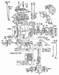 Briggs And Stratton 325430 Series Parts List And Diagram